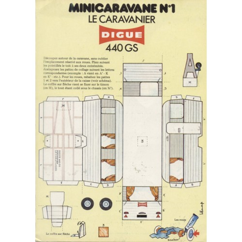 Caravan in 1:43 - oude papieren bouwplaat