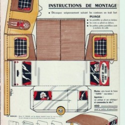 Caravan met voortent in 1:50 - oude papieren bouwplaat