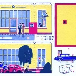 Duits benzinestation in 1:60 (Matchbox schaal) - papieren bouwplaat