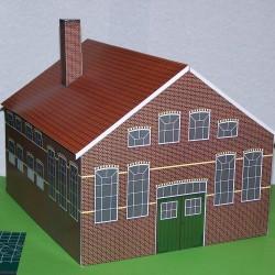 Kantoor- en magazijngebouw in 1:32 - papieren bouwplaat