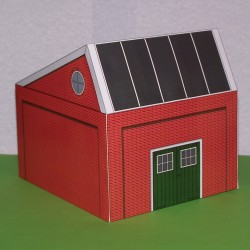 Loods in 1:32 - papieren bouwplaat