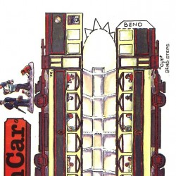 Britse tram in h0 (1:87) - model A - papieren bouwplaat