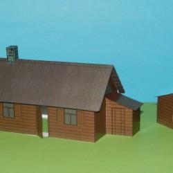 Russisch dorpshuis in 1:72 - model B, zomer uitvoering