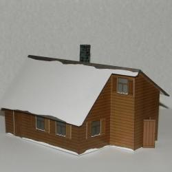 Russisch dorpshuis in 1:72 - model C - winter uitvoering