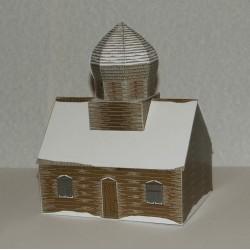 Russische dorpskerk in 1:100 (FoW) - winter - papieren bouwplaat