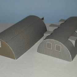 Kleine grijze Nissen hut in 1:100 - papieren bouwplaat