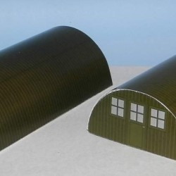Kleine groene Nissen hut in 1:72 - papieren bouwplaat