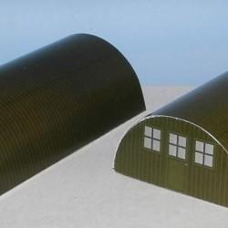 Kleine groene Nissenhut in 1:100 (FoW) - papieren bouwplaat