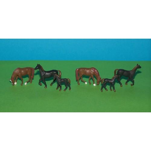 6 Paarden in h0 (1:87)
