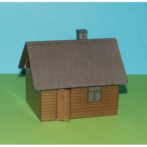Russisch huis in h0 (1:87) - model A - zomer uitvoering