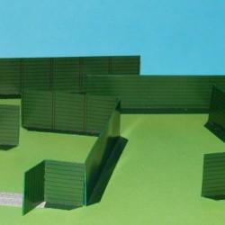 Groene schutting in h0 (1:87) - papieren bouwplaat