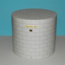 Grote hoge opslagtank in h0 (1:87) - papieren bouwplaat