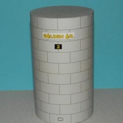 Kleine hoge opslagtank in h0 (1:87) - papieren bouwplaat