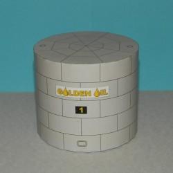 Kleine lage opslagtank in h0 (1:87) - papieren bouwplaat