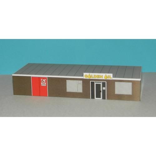 Bedrijfsgebouw in N (1:160) - papieren bouwplaat