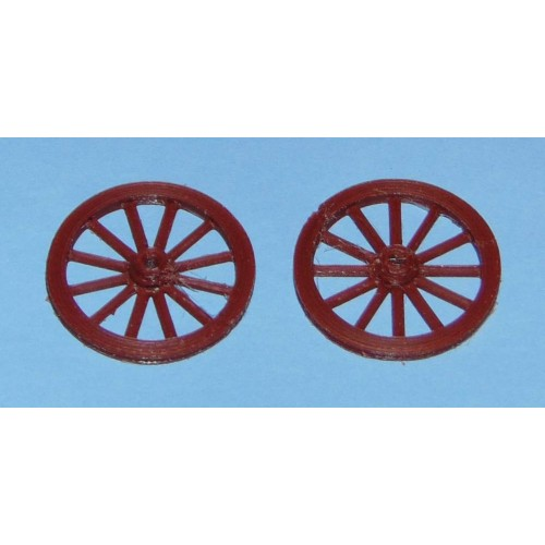 Twee wagenwielen - 37,5mm