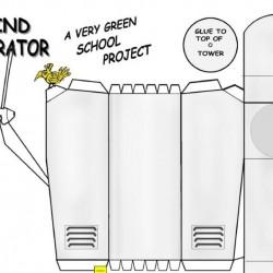 Wind turbine - papieren bouwplaat in N (1:160)