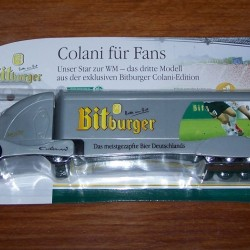 Futuristische Colani truck Bitburger en WK voetbal