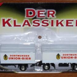Krupp Mustang truck met aanhanger van Dortmunder Union bier