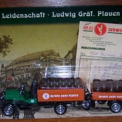 Dürkopp typ 2,5 truck uit 1909 + aanhanger van Gräf bier
