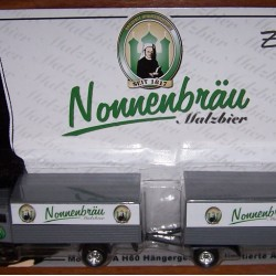IFA H60 truck met aanhanger van Nonnenbräu Malzbier