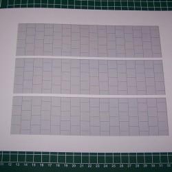 Voetpad in 1:22,5 - papieren wegenplaat - A4