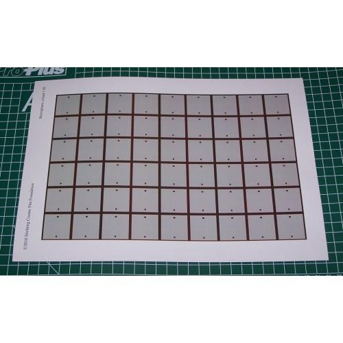 Betonnen rijplaten in 1:50 - A4-formaat