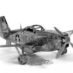 P-51 Mustang - metalen bouwplaat