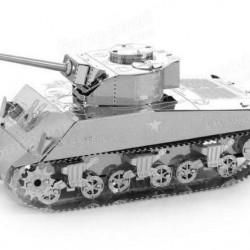 Sherman tank - metalen bouwplaat
