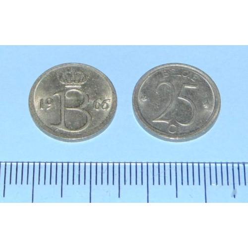 België - 25 centimes 1966N