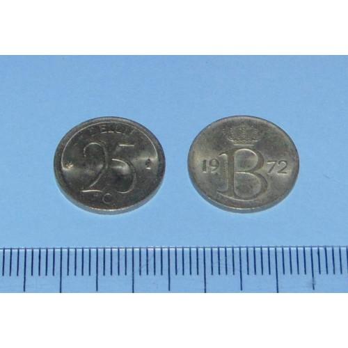 België - 25 centimes 1972N