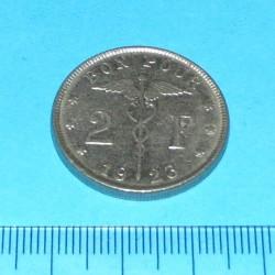 België - 2 frank 1923 F