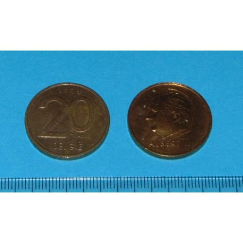 België - 20 frank 1998N