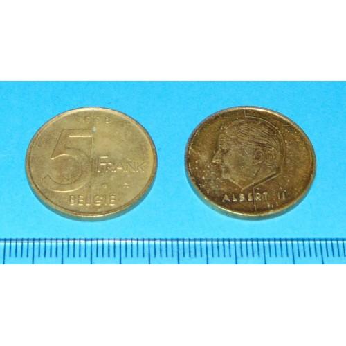 België - 5 frank 1998N