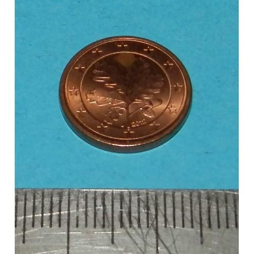 Duitsland - 1 cent 2012 J - Unc