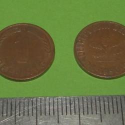 Duitsland - 1 pfennig 1950G