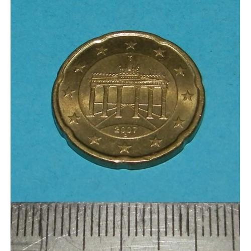 Duitsland - 20 cent 2007D