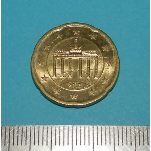 Duitsland - 20 cent 2012A