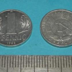 DDR - 1 pfennig 1968A