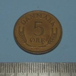 Denemarken - 5 Øre 1963