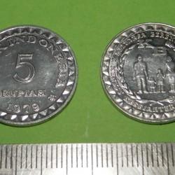 Indonesië - 5 rupiah 1979