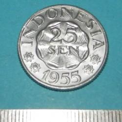 Indonesië - 25 sen 1955