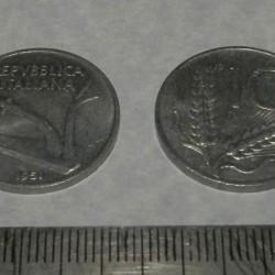 Italië - 10 lire 1951