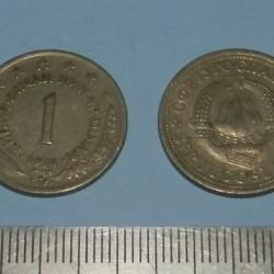 Joegoslavië - 1 dinar 1974