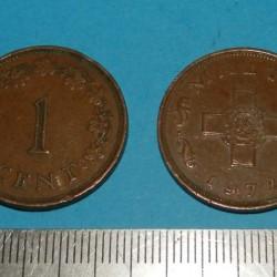 Malta - 1 cent 1972
