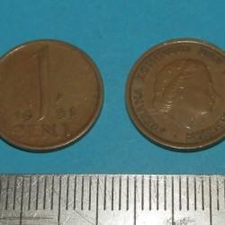Nederland - 1 cent 1961