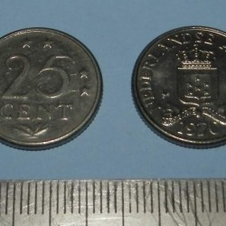 Nederlandse Antillen - 25 cent 1970