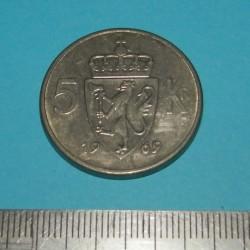 Noorwegen - 5 kronen 1969