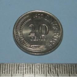 Singapore - 20 cent 1977