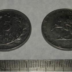 Turkije - 5 lira 1975